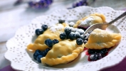 pierogi with blueberries in Chicago